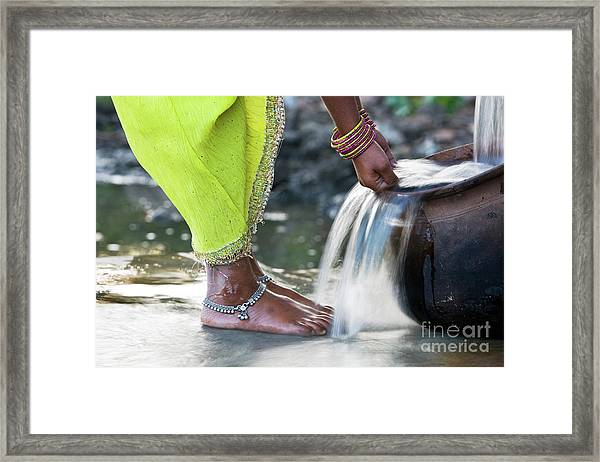 Cooling Water Framed Print by Tim Gainey