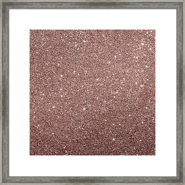 Cooper Glitter Framed Print