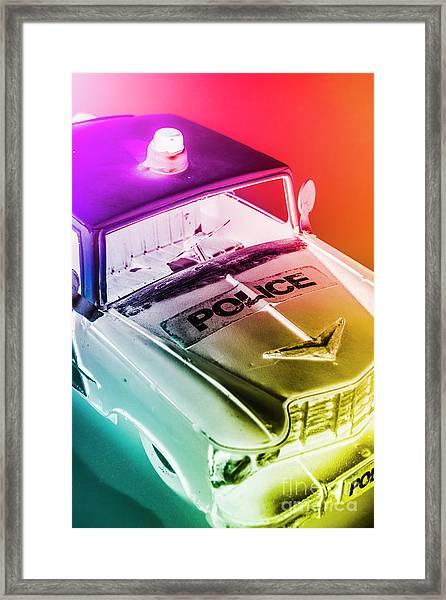 Cop Pops Framed Print
