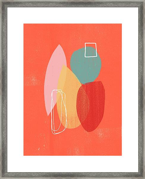 Coral Modern Abstract 1- Art By Linda Woods Framed Print