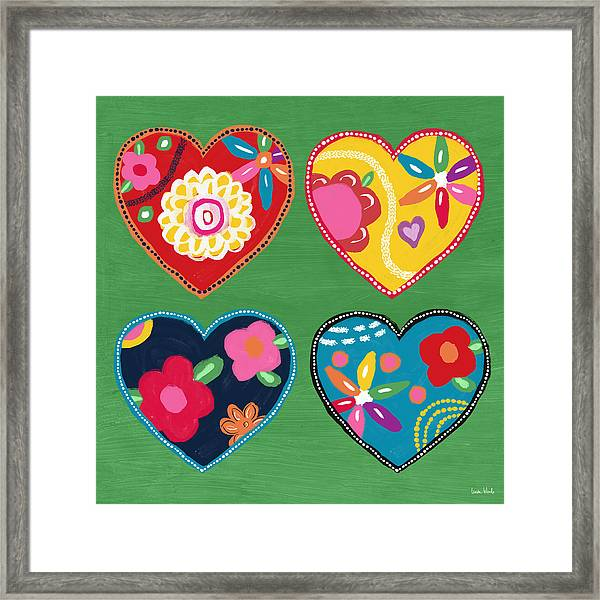 Corazon 1- Art By Linda Woods Framed Print