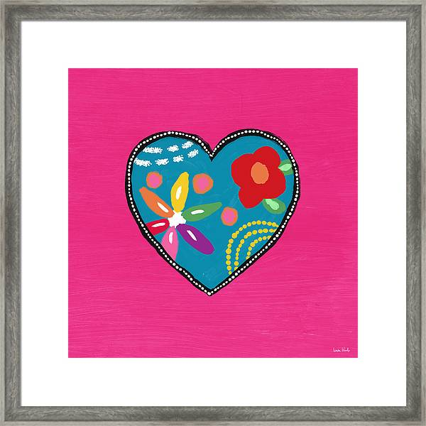 Corazon 2- Art By Linda Woods Framed Print