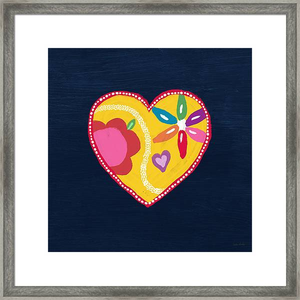 Corazon 4- Art By Linda Woods Framed Print