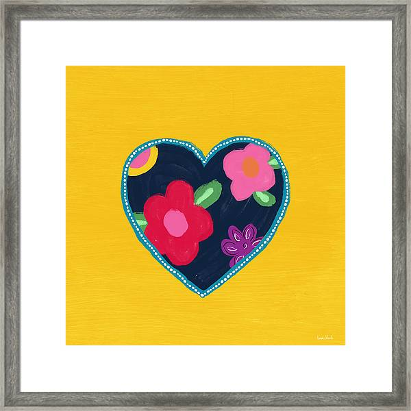 Corazon 5- Art By Linda Woods Framed Print