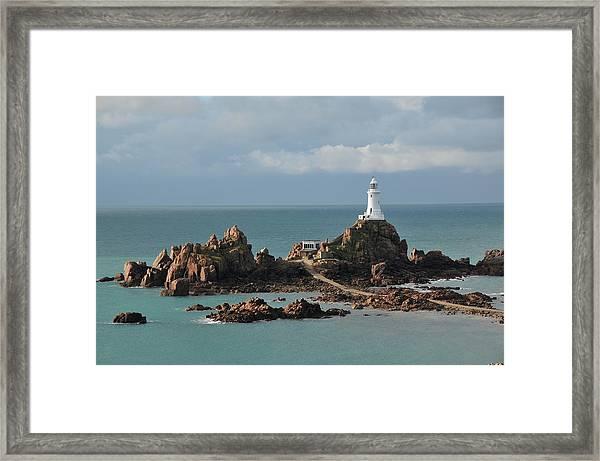 Corbiere Lighthouse,jersey Framed Print