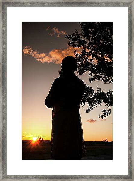 Corby At Sunset Framed Print