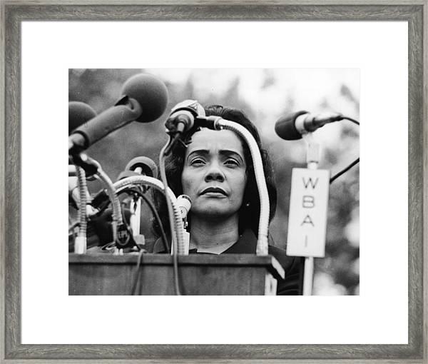 Coretta Scott King Framed Print