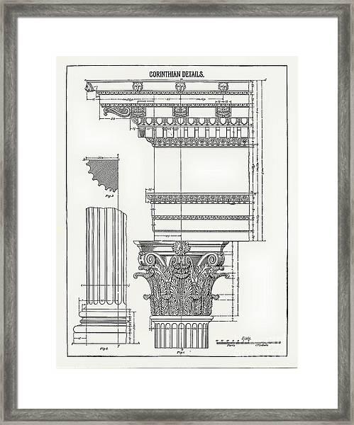 Corinthian Architecture Framed Print