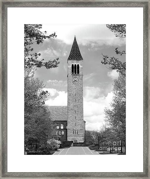 Cornell University Mc Graw Tower Framed Print