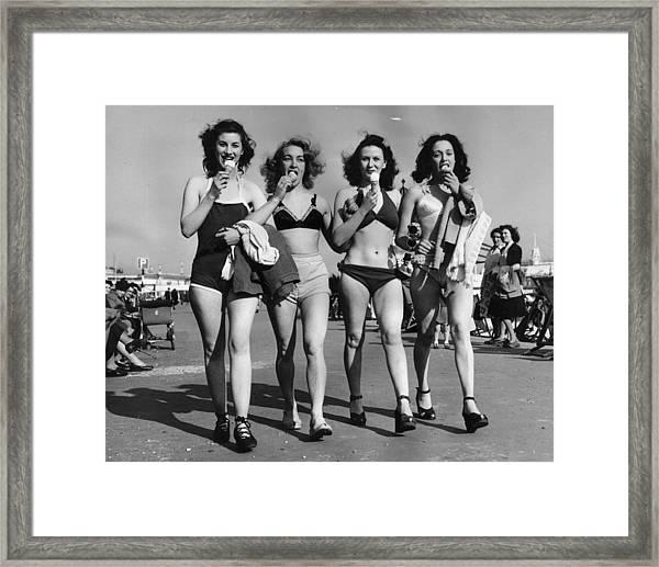 Cornet Quartet Framed Print by N Vigars
