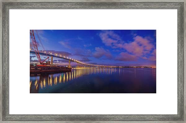 Coronado Bridge Sunrise - Panorama Framed Print
