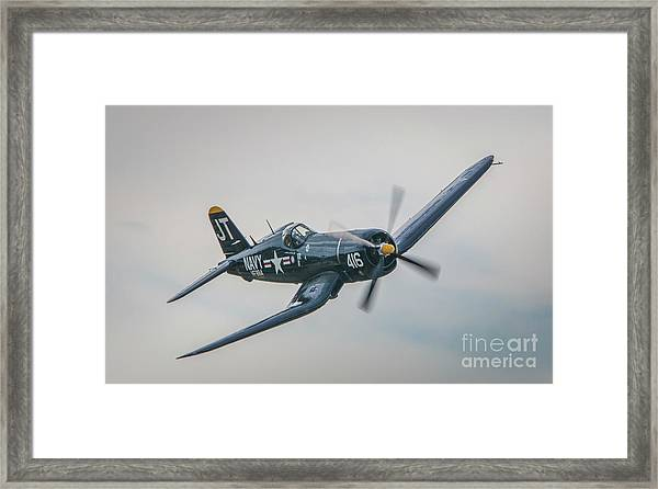 Framed Print featuring the photograph Corsair Approach by Tom Claud