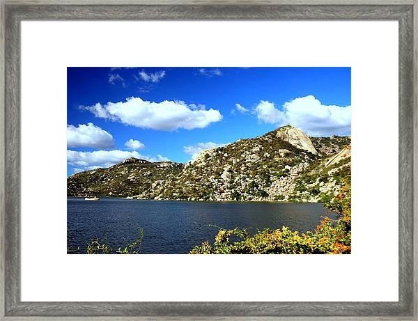 Cottom Clouds Framed Print