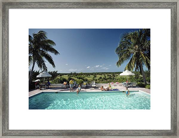 Cotton Bay Framed Print