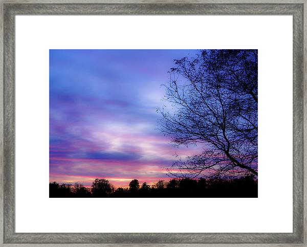 Cotton Candy Sunset In October Framed Print