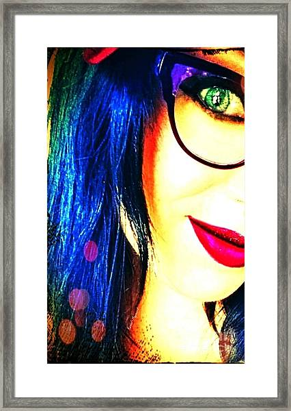 Framed Print featuring the mixed media Couleur Magique by Rachel Maynard