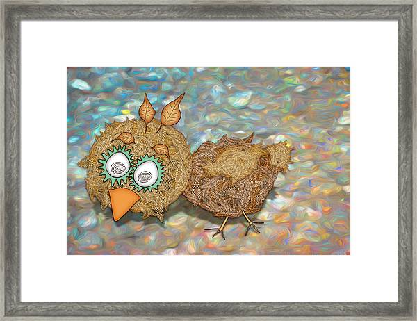 Count Your Chicken Framed Print