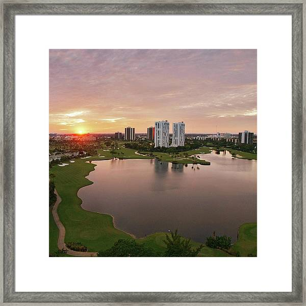 Country Club At Sunset Framed Print