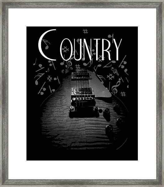 Country Music Guitar Music Framed Print