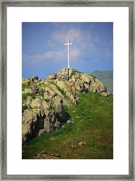 Countryside Cross Framed Print
