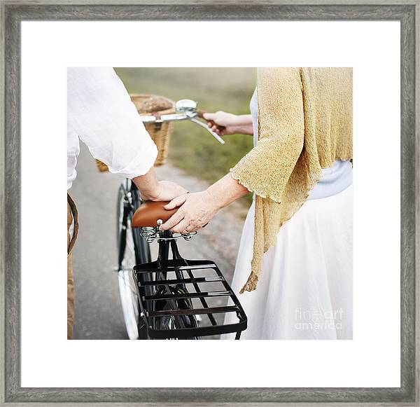 Couple Husband Wife Cheerful Caucasian Framed Print by Rawpixel.com