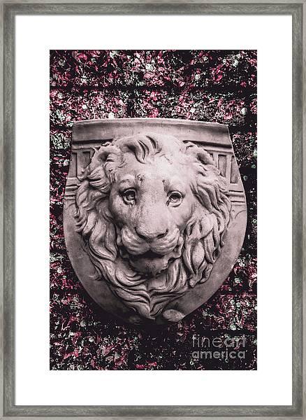 Courage Crest Framed Print