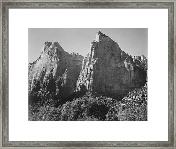 Court Of The Patriarchs Framed Print