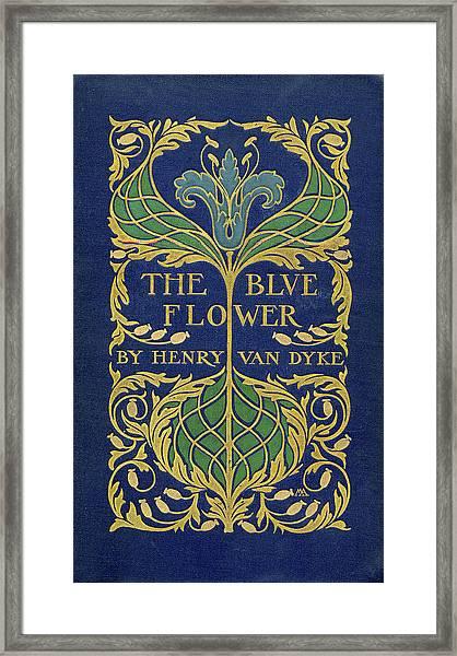 Cover Design For The Blue Flower Framed Print