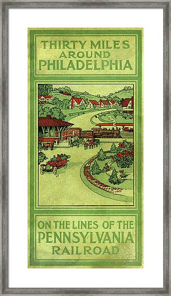 Cover Of Thirty Miles Around Philadelphia Framed Print