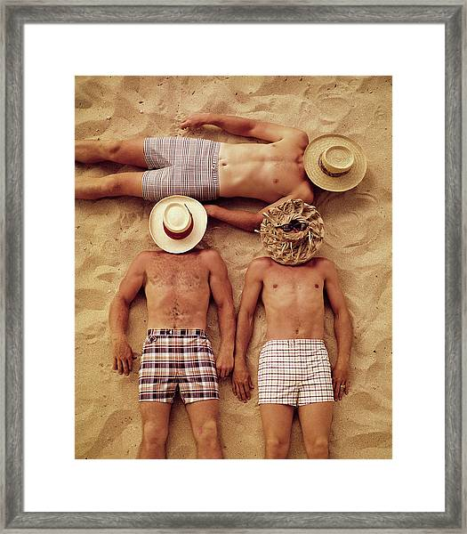 Covered Faces Framed Print