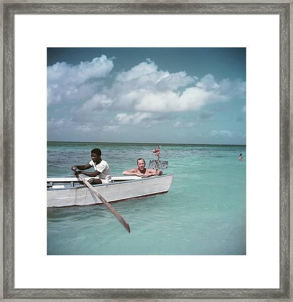 Coward Abroad Framed Print by Slim Aarons