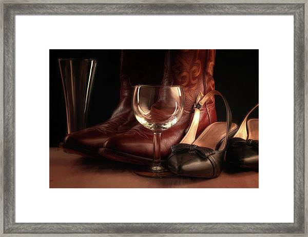 Cowboy And The Lady Framed Print