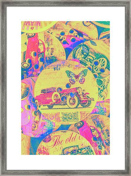 Crafty Car Commercial Framed Print