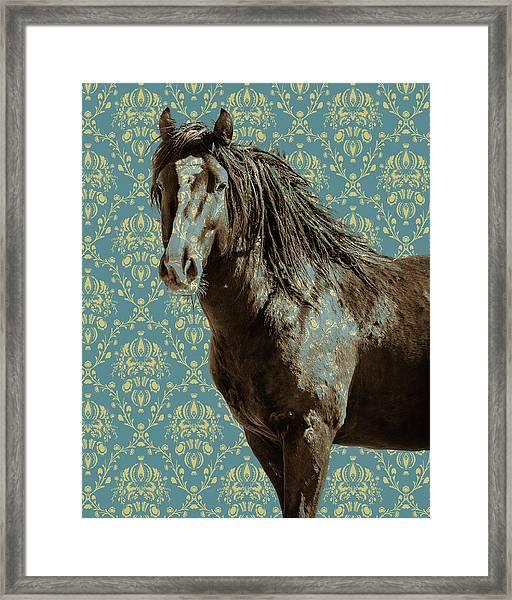 Crazy Blue Framed Print