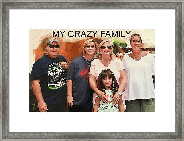 Crazy Family Framed Print