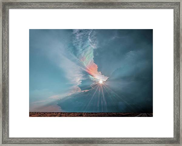 Crazy Luminescence Framed Print