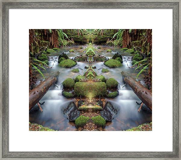 Creek Diamonds #1n Framed Print