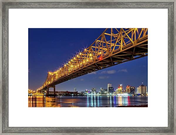 The Crescent City Bridge, New Orleans  Framed Print