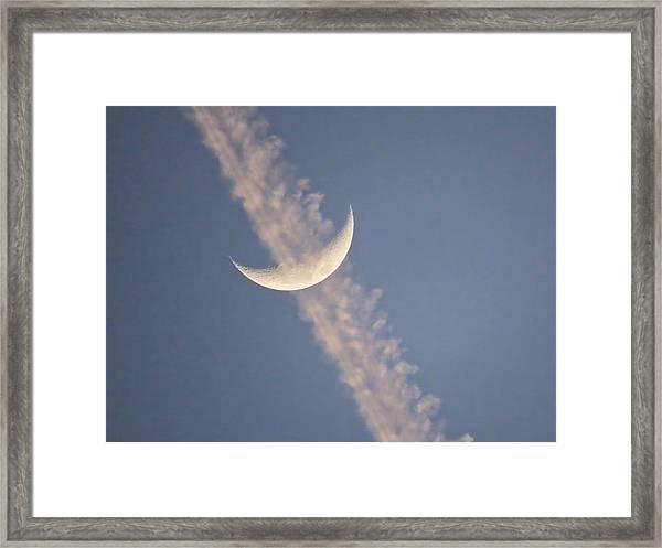 Gemini Crescent In Contrail Framed Print