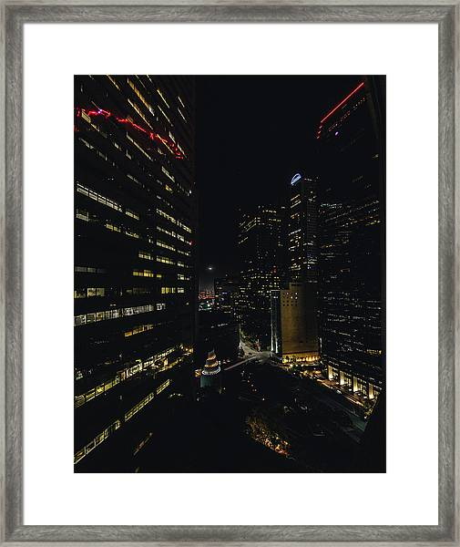 Crescent Moon Framed Print