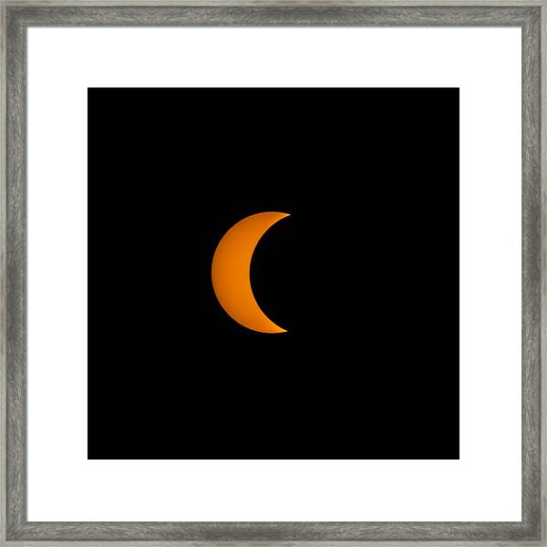 Crescent Sun Framed Print by Christine Buckley