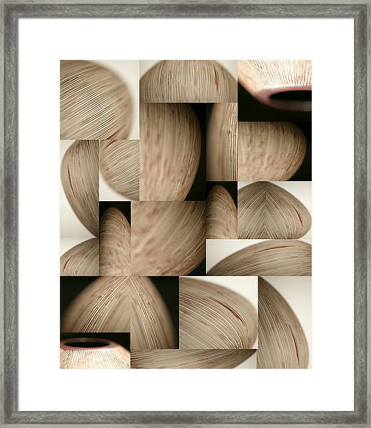 Crescents Framed Print