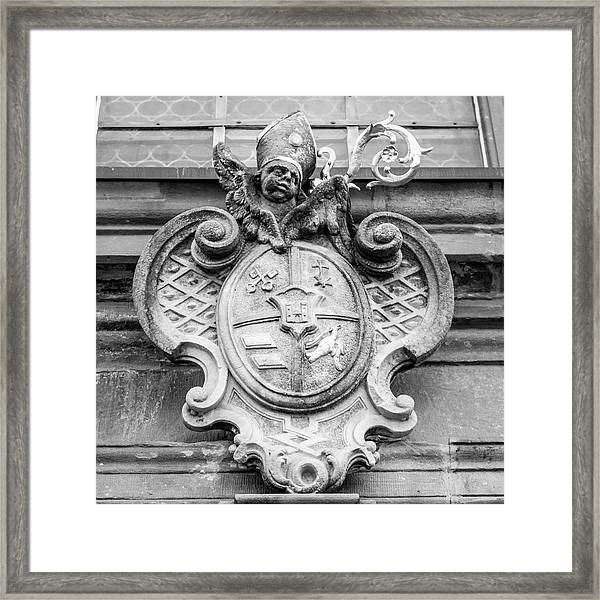 Crest Of Saint Peter B W  Framed Print