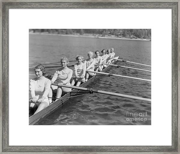 Crew Team Framed Print