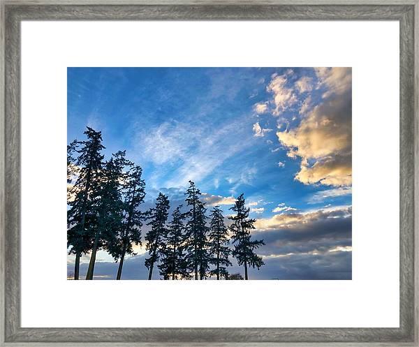 Crisp Skies Framed Print