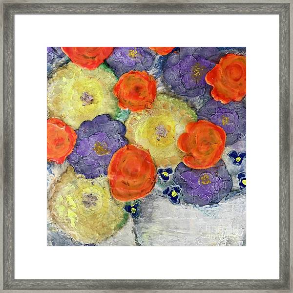 Crochet Bouquet Framed Print