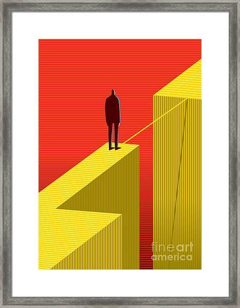 Cross Other Side Framed Print
