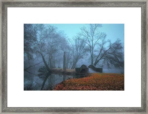 Crossing Into Winter Framed Print