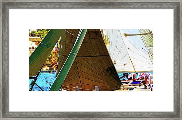 Crossing Sails Framed Print
