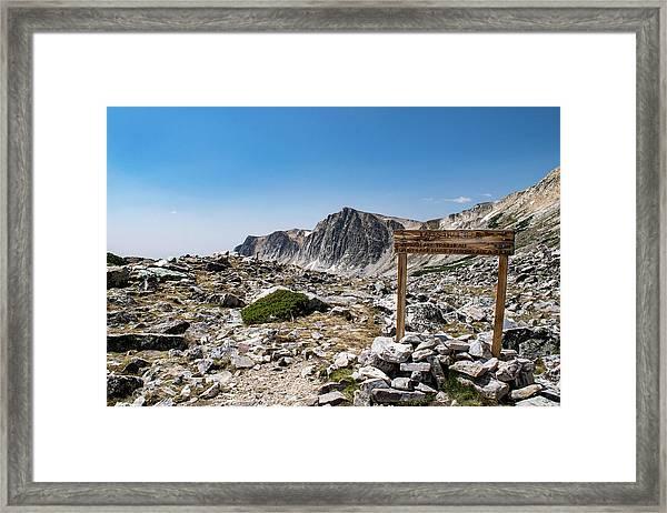 Crossroads At Medicine Bow Peak Framed Print